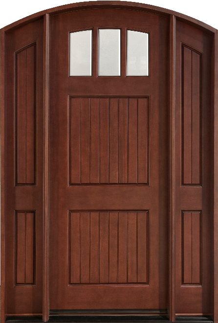 db-245-2sl-cst-medium-mahogany-entry-door & Custom Mahogany Doors - Custom Wood Doors - Doors For Builders ...