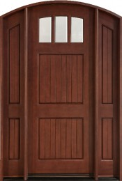 db-245-2sl-cst-medium-mahogany-entry-door