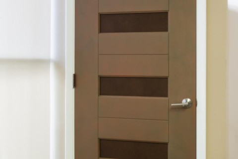 Modern MDF Interior Door with Leather