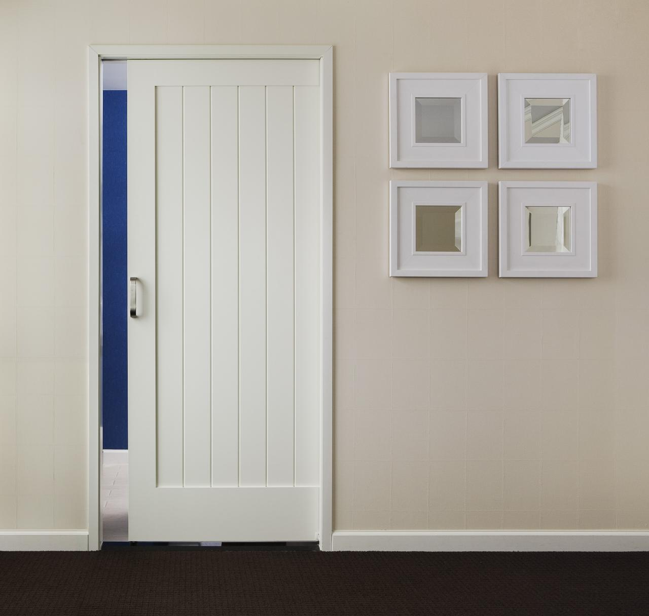 Trustile paint grade mdf interior doors in chicago at glenview mirror slider mdf interior door trustile v grove series eventelaan Images