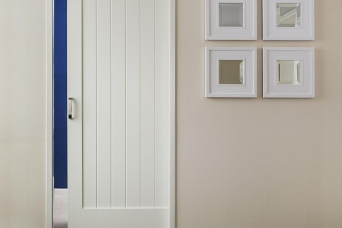 Mirror Slider MDF Interior Door TruStile V Grove Series