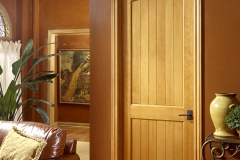 MDF Interior Door TruStile V Grove Series