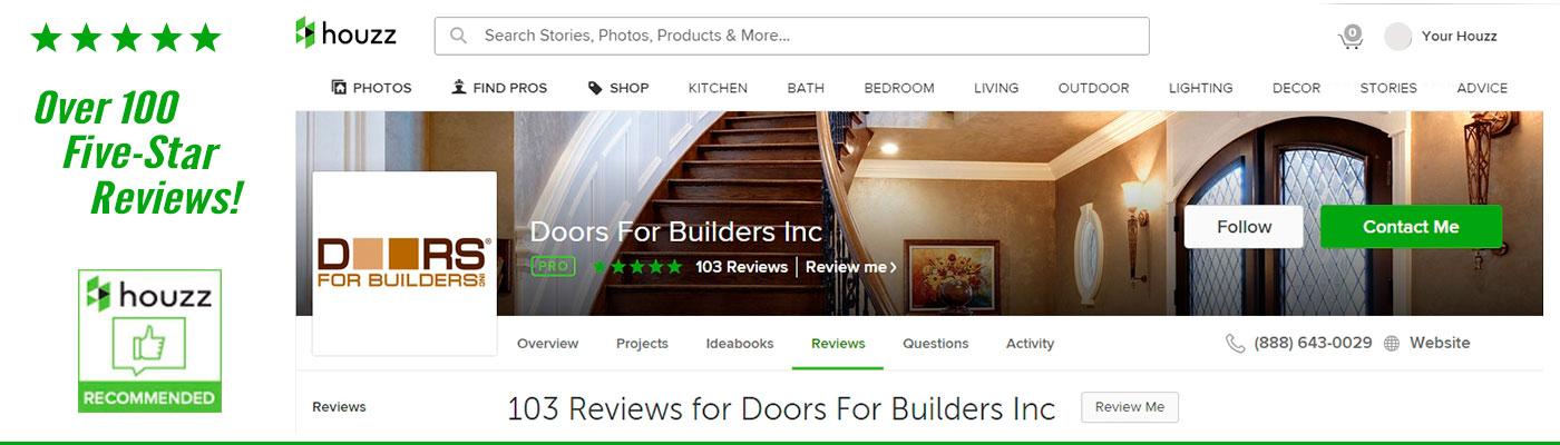 Custom Door Maker Receives 100 Rave Reviews from the Houzz Community  sc 1 st  Doors for Builders Inc. & Custom Door Maker Receives 100 Rave Reviews from the Houzz Community ...