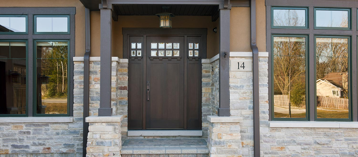 craftsman front doors solid wood