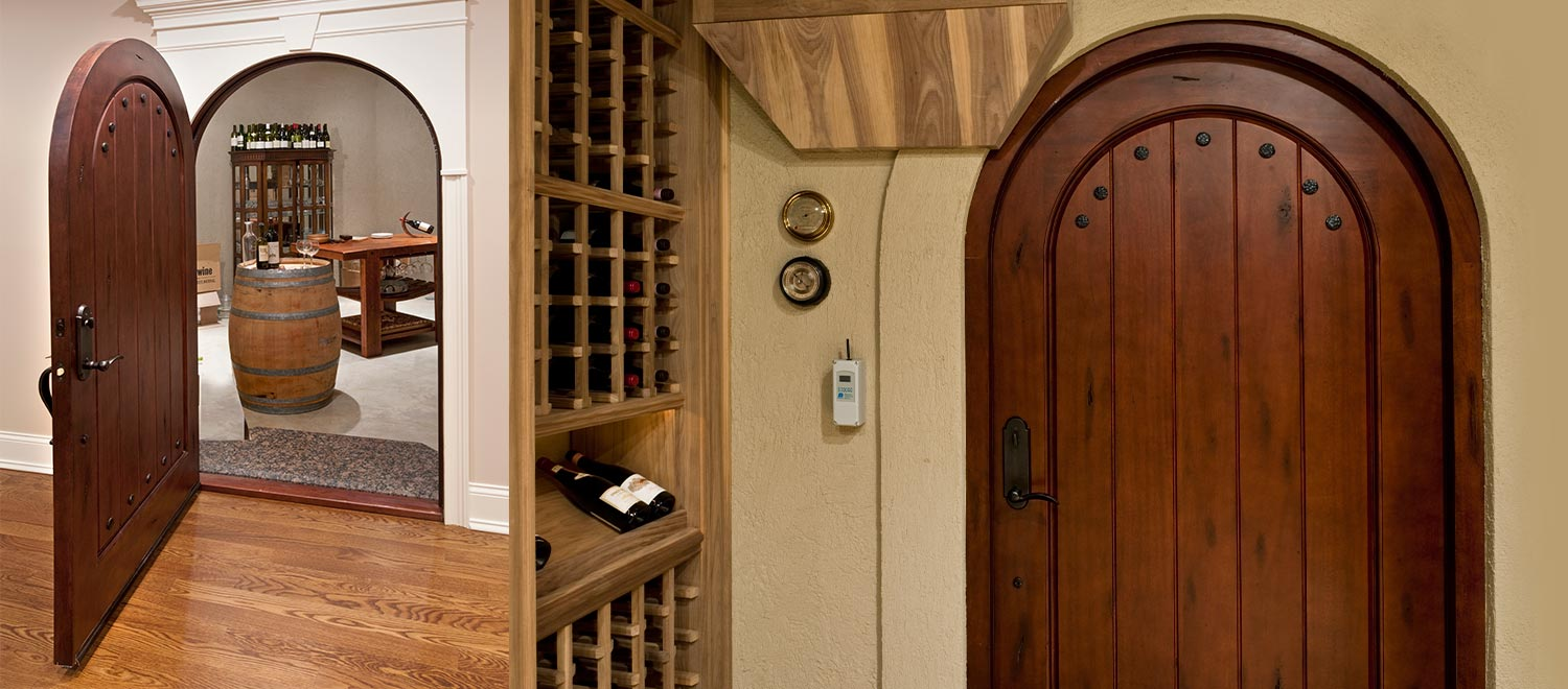 Solid Wood Interior Wine Cellar Doors, Custom And Stock