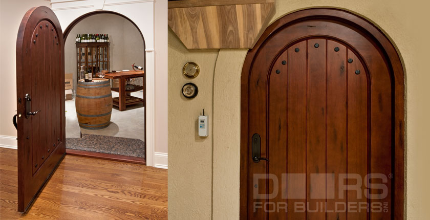 Wine Cellar Solid Wood Doors 1