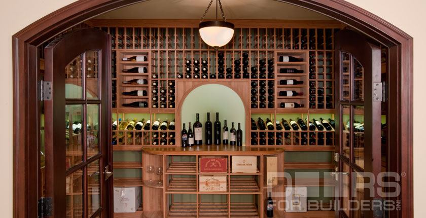 Wine Cellar Solid Wood Doors 2