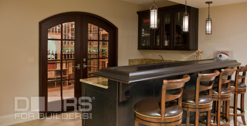 Wine Cellar Solid Wood Doors 3