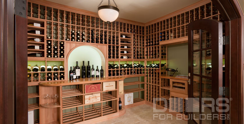 Wine Cellar Solid Wood Doors 4