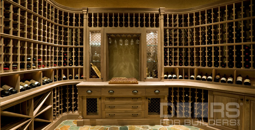 Wine Cellar Solid Wood Doors 5
