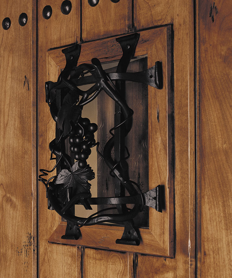 65 Aurora Fiberglass Exterior Door Bordeaux-Speakeasy-Grille-Dark-Patina