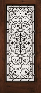 Decorative Metal Grille Doors Fibegalss Door