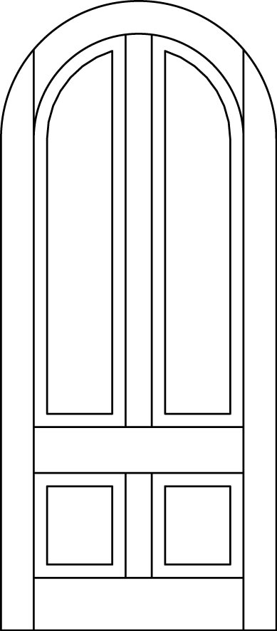 DB-A110-RT Single Aurora Fiberglass Door