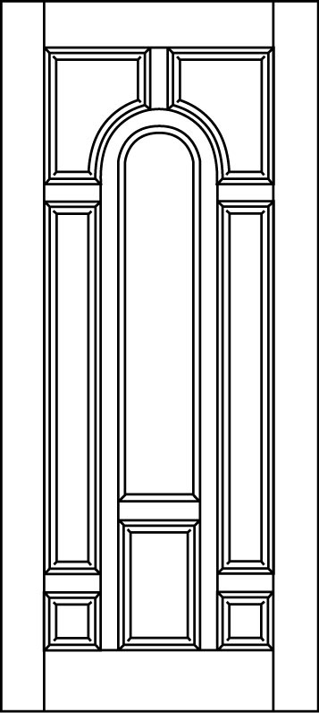 DB-A225-FT Single Aurora Fiberglass Door