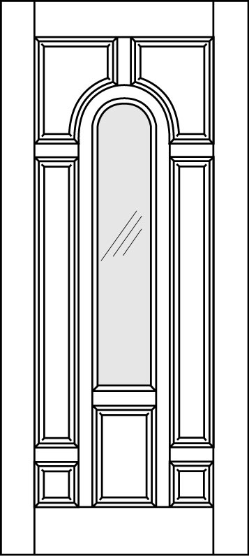 DB-A225-FT-DG Single Aurora Fiberglass Door