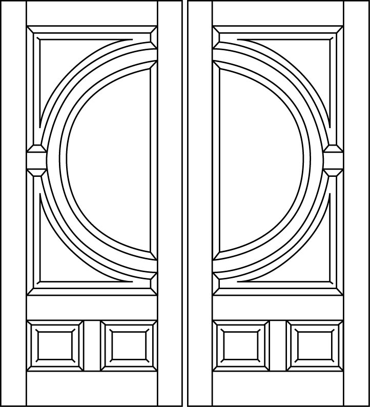 DB-A250-FT-DD Double Aurora Fiberglass Door