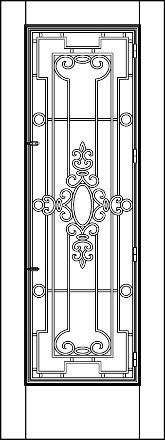 DB-A5037-FT Single Aurora Fiberglass Door