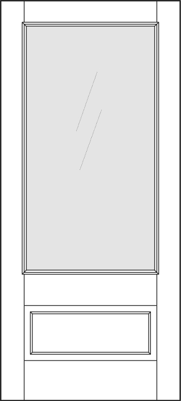 DB-A5501-FT Single Aurora Fiberglass Door