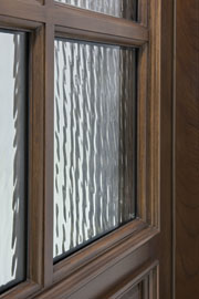 CLEAR WATER GLASS - TRUE DIVIDED - Wood Entry Doors