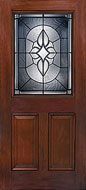 Classic Craft Mahogany Fiberglass Front Entry Door