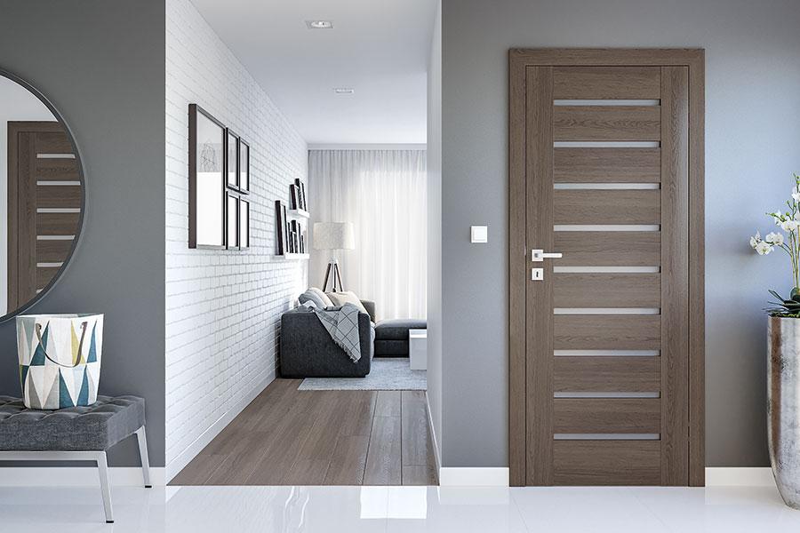 Modern Eco Veneer Interior Doors Solid Core Custom Doors