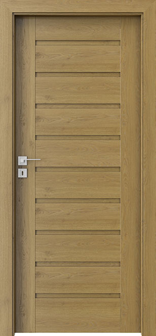 Natural Oak Wood Front Door - Single