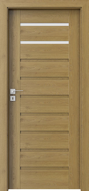 Ecco Natural Oak Wood Interior Door - Single - DBEV-CNT-A2