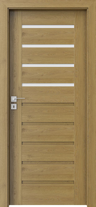 Ecco Natural Oak Solid Wood Front Entry Door - Single - DBEV-CNT-A4