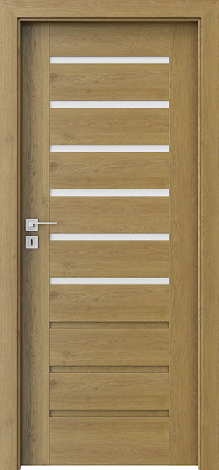 Ecco Natural Oak Solid Wood Front Entry Door - Single - DBEV-CNT-A6