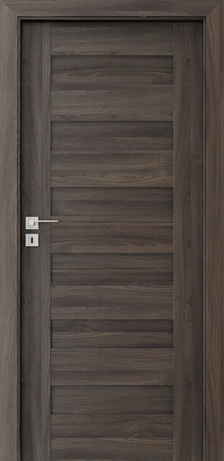 Ecco Dark Oak Solid Wood Front Entry Door - Single - DBEV-CNT-C0