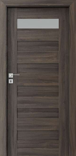 Ecco Dark Oak Wood Interior Door - Single - DBEV-CNT-C1