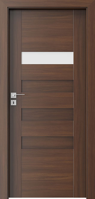 Ecco Walnut Wood Interior Door - Single - DBEV-CNT-H1