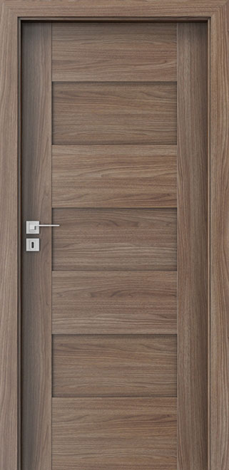 Walnut Verona 2 Wood Front Door - Single