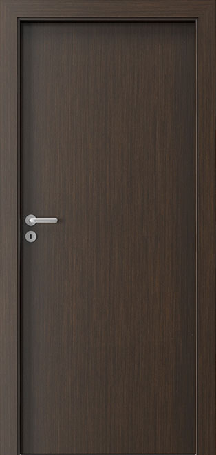 Ecco Wenge Solid Wood Front Entry Door - Single - DBEV-DEC-P