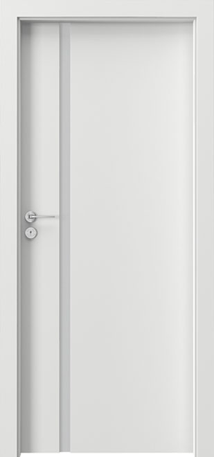 Ecco White Solid Wood Front Entry Door - Single - DBEV-FCP-4A