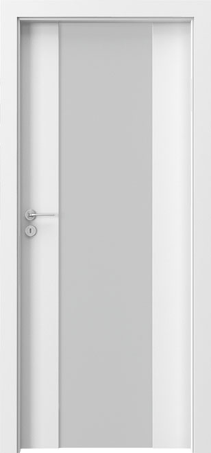 Ecco White Solid Wood Front Entry Door - Single - DBEV-FCP-4B
