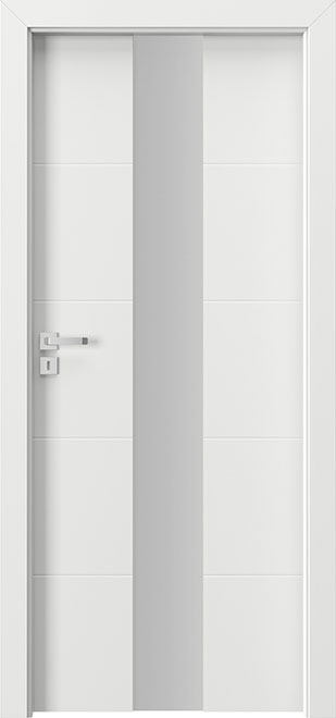 Ecco White Solid Wood Front Entry Door - Single - DBEV-FCP-4E
