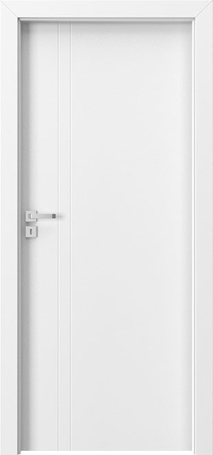 Ecco White Solid Wood Front Entry Door - Single - DBEV-FCP-5A