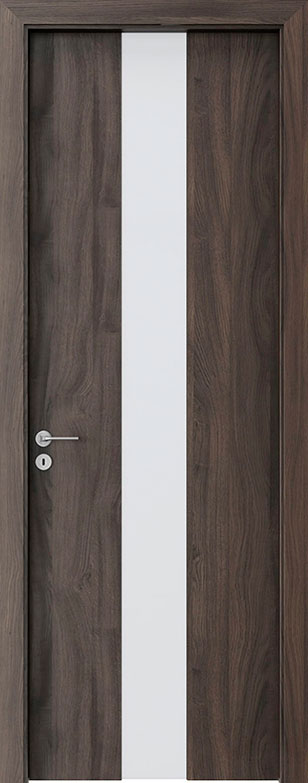 Dark Oak Wood Front Door - Single