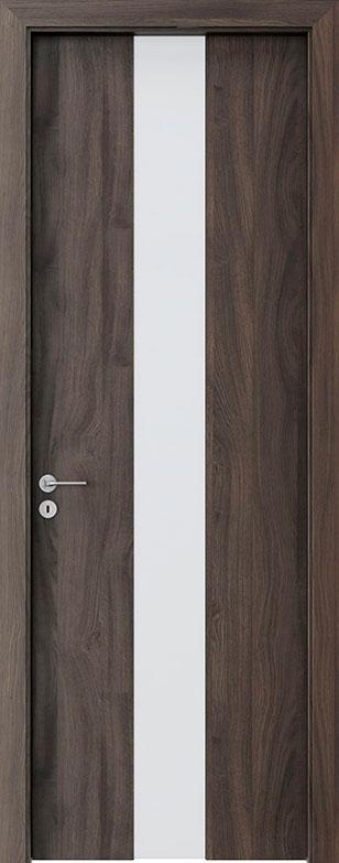 Dark Oak Wood Front Door - Single