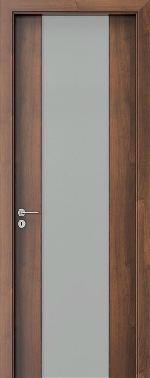 Walnut Wood Front Door - Single