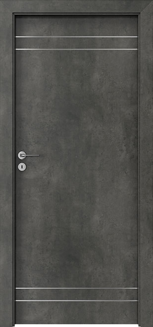 Ecco Structure Dark Wood Interior Door - Single - DBEV-LIN-D1