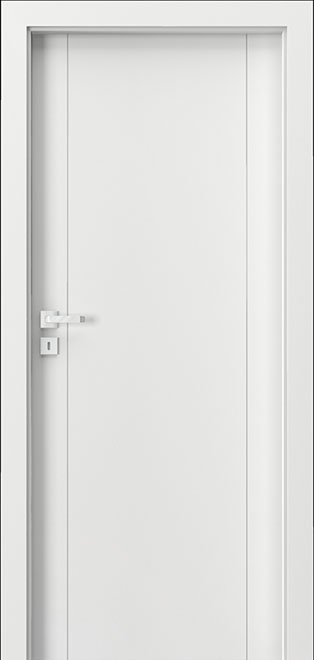 Ecco White Solid Wood Front Entry Door - Single - DBEV-VEP-A