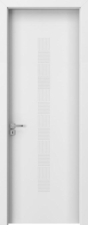 White Wood Front Door - Single