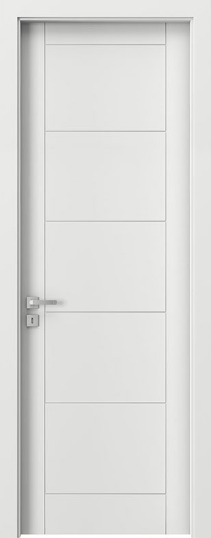 White Wood Front Door - Single
