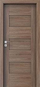 DBEV-CNT-K0 Walnut Verona 3-  Wood Interior Door - Single