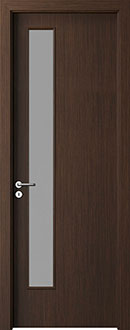 Modern Interior Door, Wenge with  Finish, GDEV-DEC-L