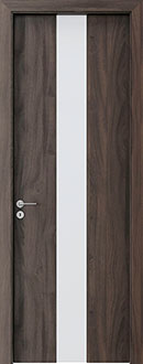 Modern Interior Door, Dark Oak with  Finish, GDEV-FCS-20