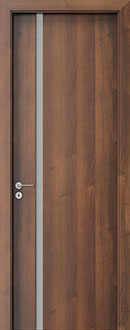 Modern Interior Door, Walnut with  Finish, GDEV-FCS-4A