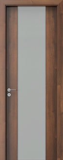 Modern Interior Door, Walnut with  Finish, GDEV-FCS-4B